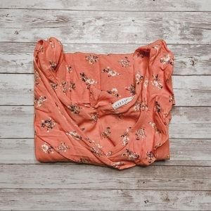 Copper Key | Sleeveless Peach Floral top